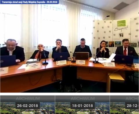 Moduł transmisji na żywo (on-line) sesji rady gminy oraz automatyczna archiwizacja nagrań