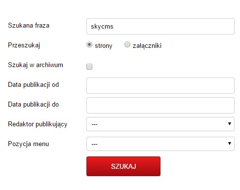 Wyszukiwarki proste i zaawansowane