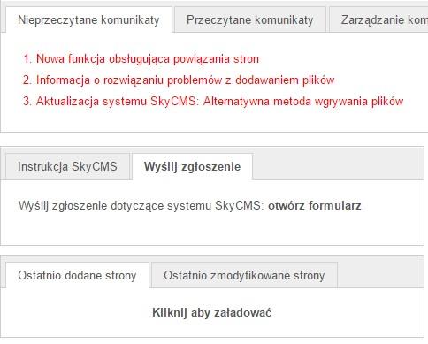 Komunikaty systemowe