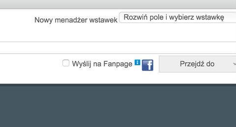 Integracja z fanpage facebook
