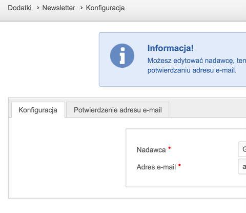newsletter pozwala na automatyczne wysyłanie aktualności ze strony www
