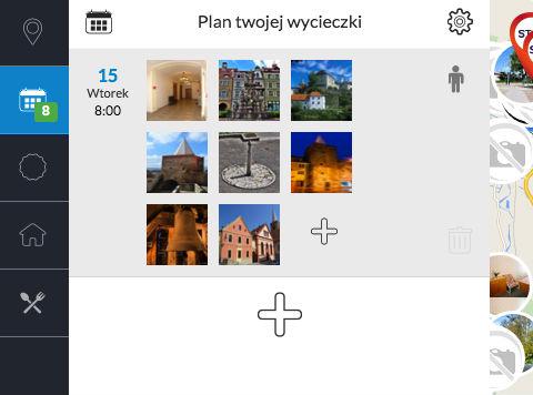 Turystyczny planer podróży i wycieczek